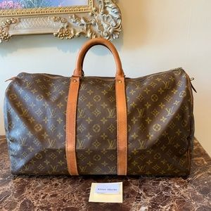 Authentic Louis Vuitton Keepall 50 Vintage